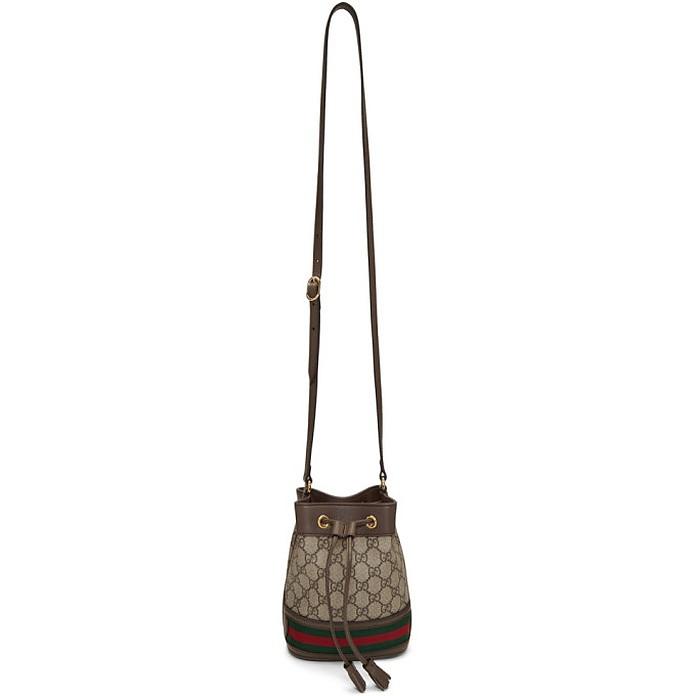 Beige Mini GG Ophidia Bucket Bag - Gucci