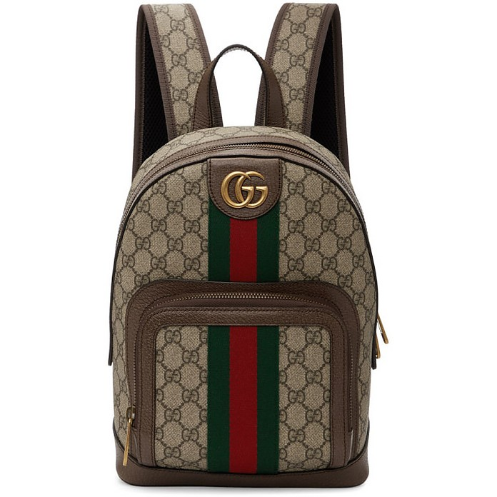 Beige Small GG Ophidia Backpack - Gucci