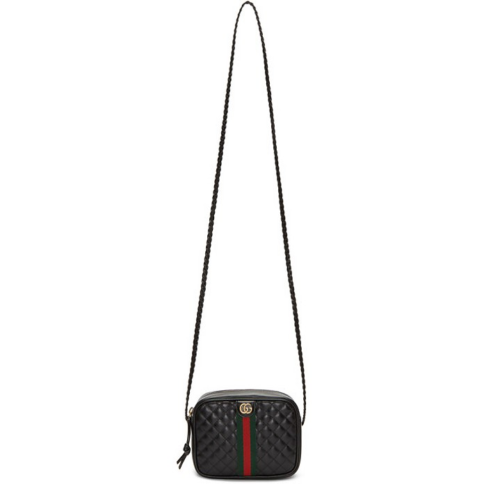 Black Small Quilted Shoulder Bag - Gucci