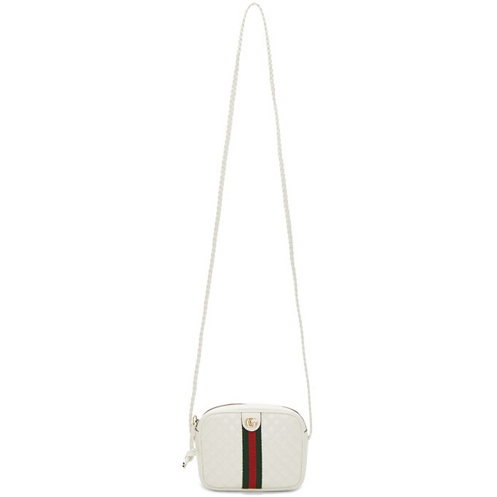 White Small Quilted Shoulder Bag - Gucci