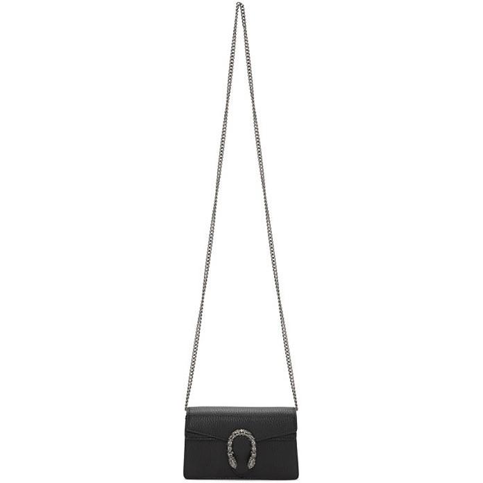 Black Super Mini Dionysus Chain Bag - Gucci
