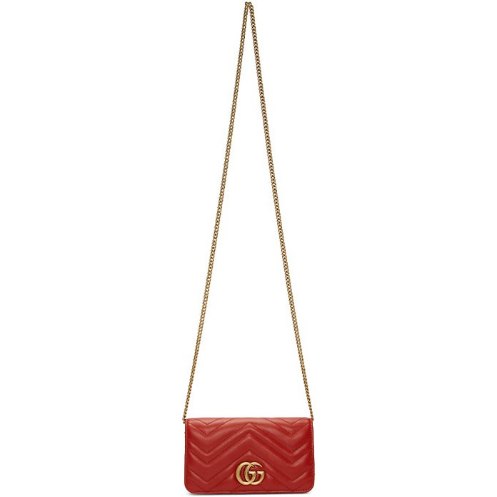 Red Quilted Marmont 2.0 Bag - Gucci