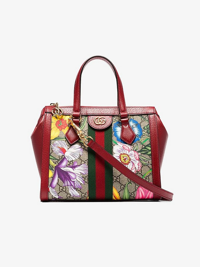 Multicoloured Ophidia floral monogram mini tote bag - Gucci