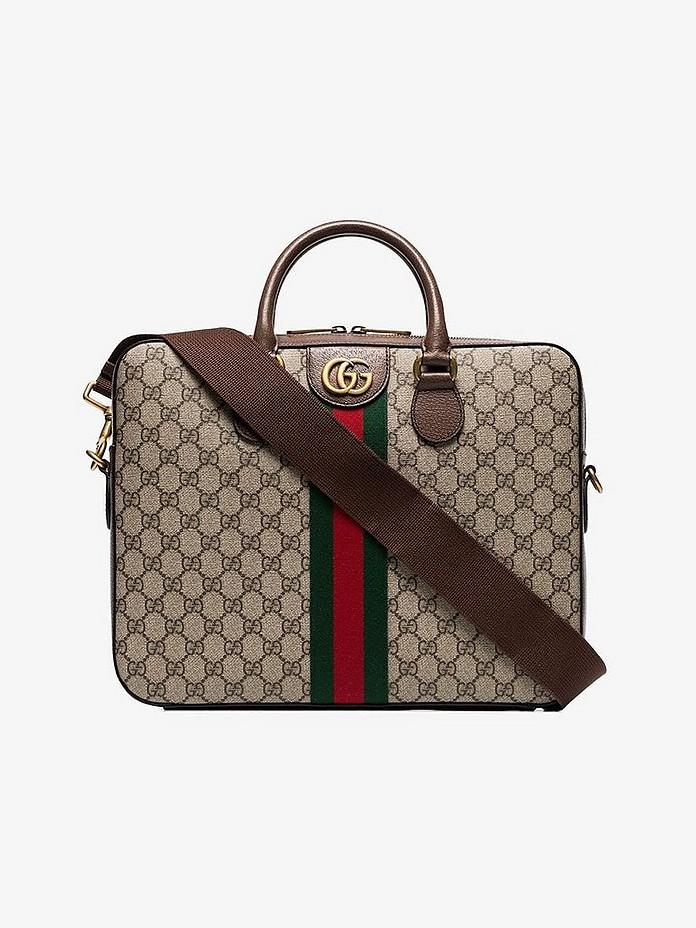 Gucci Pants GG Supreme monogram briefcase