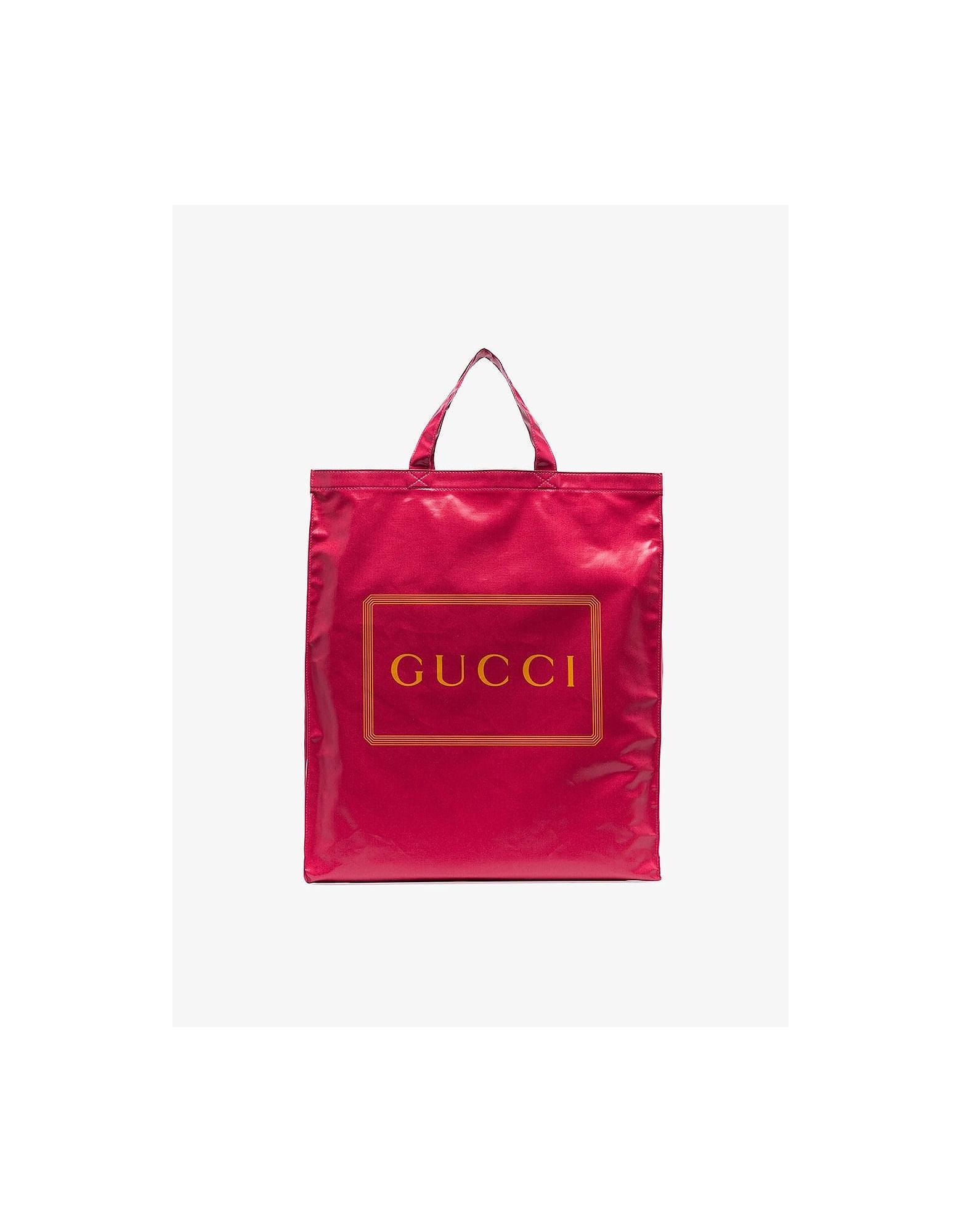 Gucci Bags PINK LOGO GRANNY SHOPPER BAG