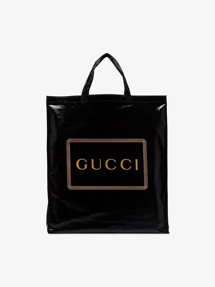 Gucci Accessories Black logo Granny shopper bag