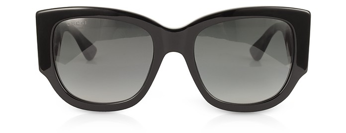 32235aaf1feef GG0276S Black Oversize Cat Eye Acetate Sunglasses w Sylvie Web Temples -  Gucci