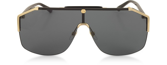 Gucci Sunglasses GG0291S Rectangular-frame Gold Metal Sunglasses