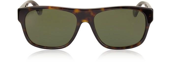 GG0341S Rectangular-frame Acetate Sunglasses - Gucci