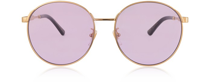 GG0206SK 006 Round-frame Metal Sunglasses - Gucci