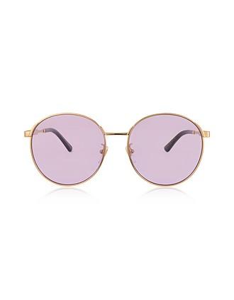 a17baae91 GG0206SK 006 Round-frame Metal Sunglasses - Gucci