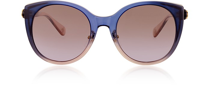 3bde2193de5 Gucci blue shaded grey GG0369S Cat-Eye Acetate Sunglasses at FORZIERI