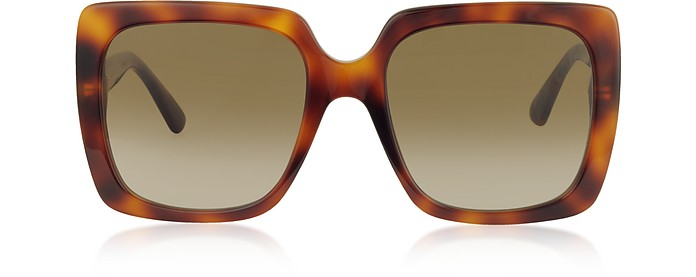 GG0418S Rectangular-frame Acetate Sunglasses - Gucci / グッチ