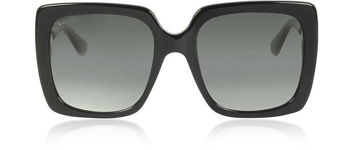 Rectangular-frame Acetate Sunglasses - Gucci
