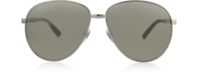 Aviator Metal Sunglasses w/Adjustable Nose Pads - Gucci
