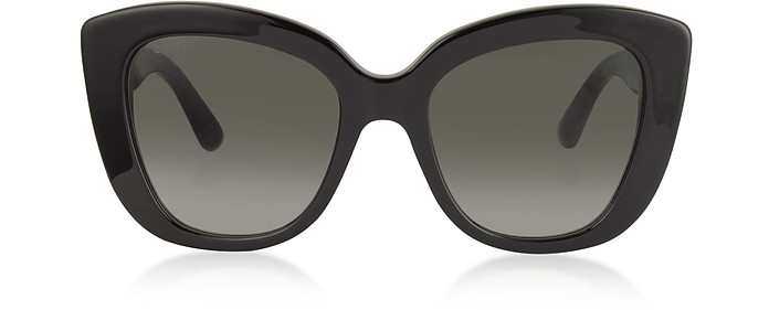 Oversized Rectangular-frame Acetate Sunglasses - Gucci