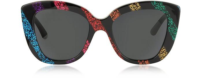 Oversized Rectangular-frame Acetate Sunglasses - Gucci