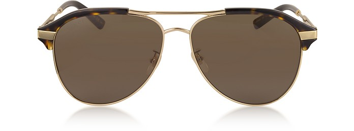 Specialized Fit Aviator Metal Sunglasses - Gucci / グッチ