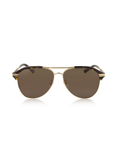 Specialized Fit Aviator Metal Sunglasses - Gucci
