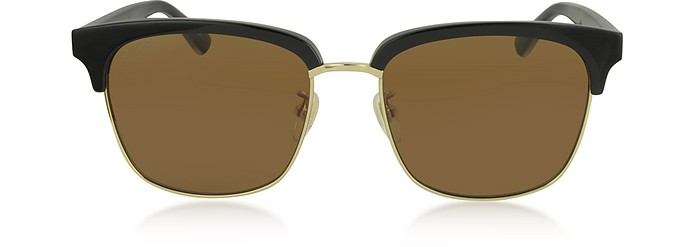 Rectangular-frame Metal Sunglasses - Gucci / グッチ