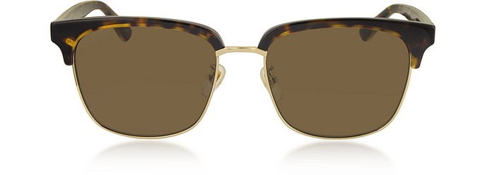 Rectangular-frame Metal Sunglasses - Gucci