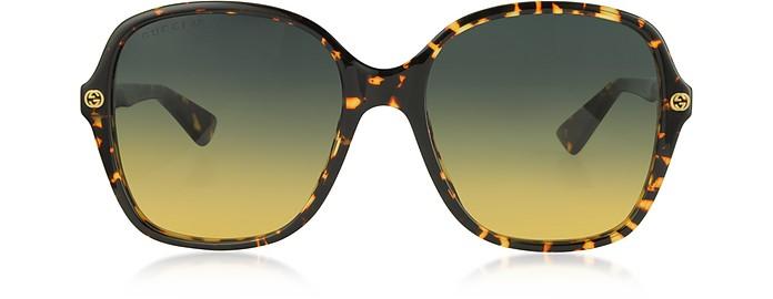 Squared-frame Acetate Sunglasses - Gucci