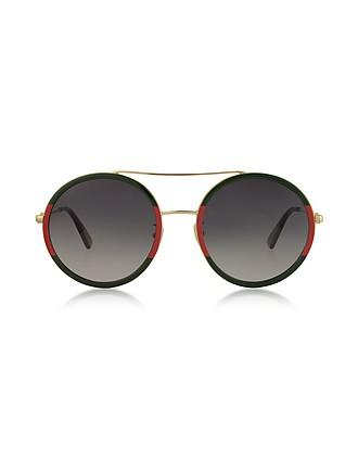 ffd702dd6 Round-frame Metal Sunglasses - Gucci