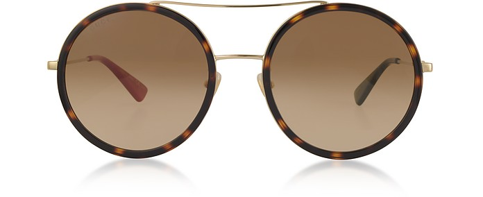 Round-frame Metal Sunglasses - Gucci