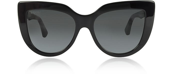 GG0164S 001 Black Optyl Cat-Eye Women's Sunglasses - Gucci / グッチ