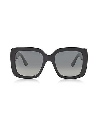 5b2a9846392 Black Oversized Square Frame Women s Sunglasses - Gucci