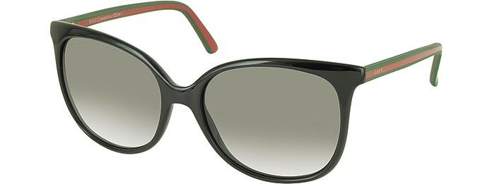 GG 3649 S Lunettes de soleil en caoutchouc Gucci Noir  Marron sur ... 994efd51a839