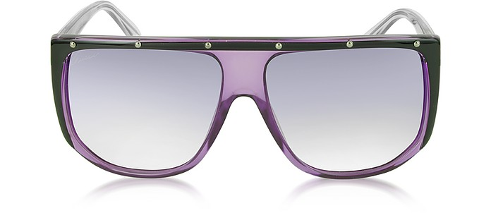GG 3705/S 9W2DH Large Shaded Mask Women's Sunglasses - Gucci