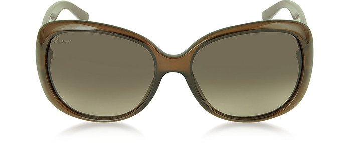96892953dc657 Gucci brown brown GG 3644 S Oversize Contrast Women s Sunglasses at ...