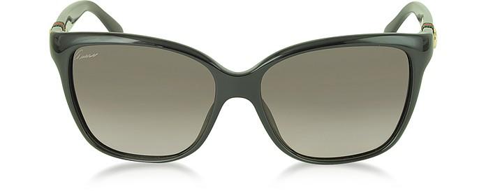 a5ec2164136 Gucci black brown GG 3645 S Shiny Cat-eye Women s Sunglasses at FORZIERI
