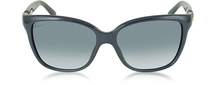 1889e16dbcb Gucci blue gradient blue GG 3645 S Shiny Cat-eye Women s Sunglasses ...
