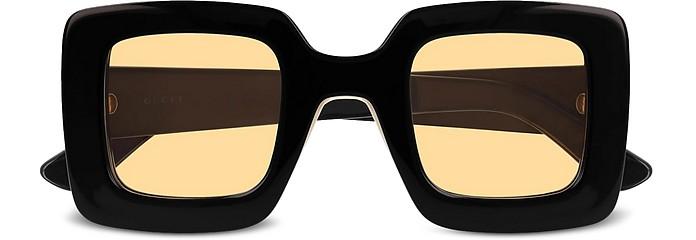 Square-frame Shiny Acetate Women's Sunglasses - Gucci