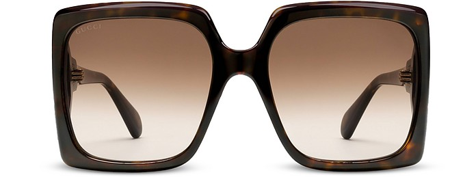 GG Logo Oversized Square-frame Acetate Women's Sunglasses - Gucci