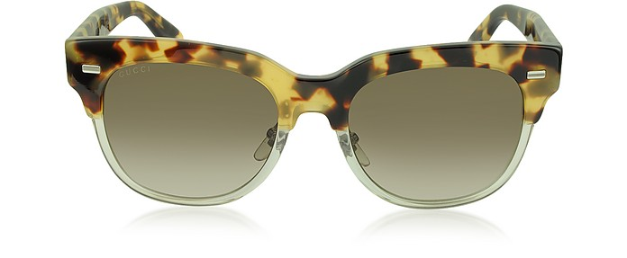 GG 3744/S Acetate Square Frame Sunglasses - Gucci