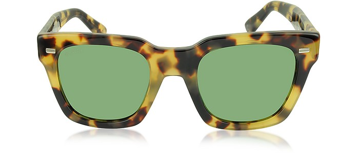 13a95865e9d Gucci Tortoise Green GG 1099 S 00FDJ Havana Acetate Square Frame ...