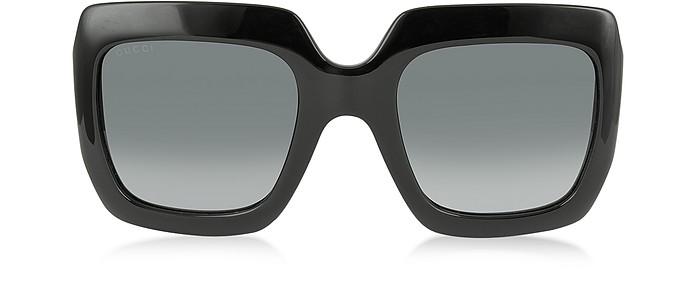 GG 3826/S D289O Shiny Black Optyl Square Frame Women's Sunglasses - Gucci