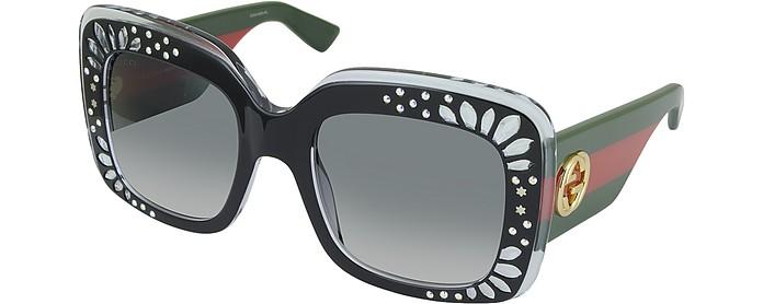 447af269480 GG 3862 S YL1VK Black Acetate Oversized Square Frame Women s Sunglasses w Rhinestone  Details.  548.00 Actual transaction amount