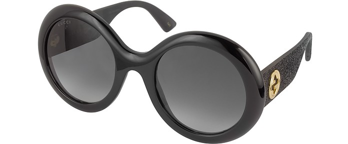 48ab9540c GG0101S Acetate Round Women's Sunglasses w/Glitter Temples - Gucci. $375.00  Actual transaction amount