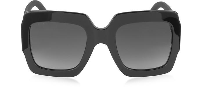 GG0053S Optyl Square Women's Sunglasses w/Glitter Temples - Gucci