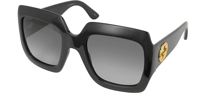 1c6ee4d3ec GG0053S 001 Black Acetate Square Women s Sunglasses - Gucci.  338.00 Actual  transaction amount
