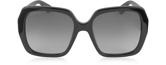 GG0096S 001 Black Acetate Square Women's Sunglasses - Gucci
