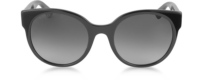 GG0035S 001 Black Optyl Round Women's Sunglasses - Gucci