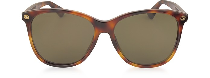 GG0024S Acetate Round Oversized Women's Sunglasses - Gucci