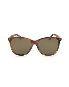 GG0024S Acetate Round Oversized Women's Sunglasses - Gucci