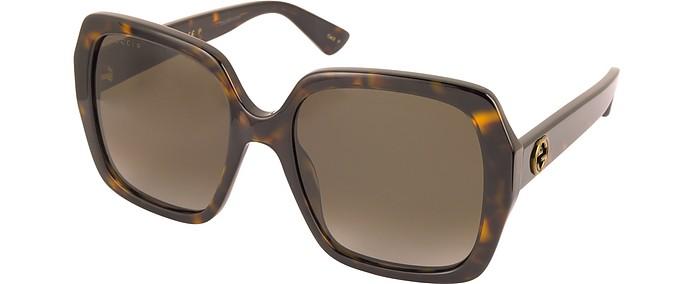 d830724f1aa5ca GG0096S 006 Havana Acetate Square Women s Polarized Sunglasses - Gucci.   415.00 Actual transaction amount