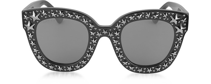 c60f86e3a GG0116S Acetate Cat Eye Women's Sunglasses w/Stars feature star worthy  retro - Gucci
